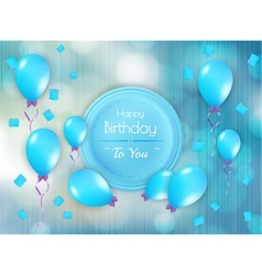 Happy birthday badge with balloons vector