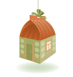 Little house gift vector