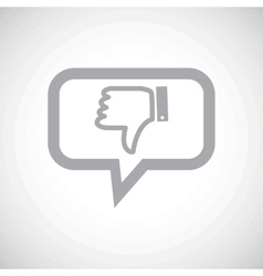 Dislike grey message icon vector