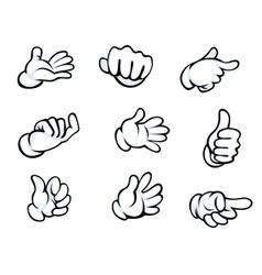 Set of hand gestures vector