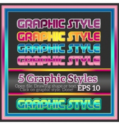 Set of bright graphic styles for various design vector