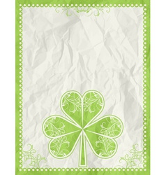 Big green clover over beige background vector