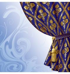 Blue drape vector