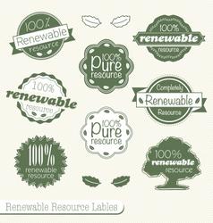Renewable resource labels vector