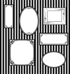 Wall with frames for paintings vector