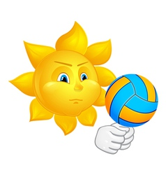 Sun is playing volleyball vector