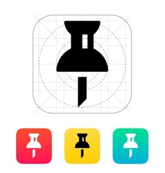 Mapping push pin icon vector