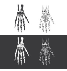 Set of skeleton hands vector
