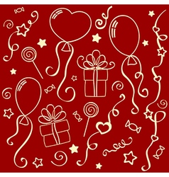 Holiday texture vector