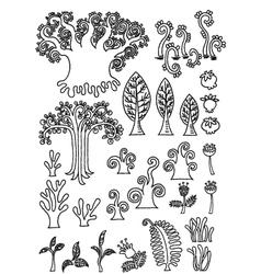 Tree doodle vector