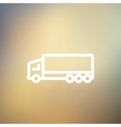Trailer truck thin line icon vector