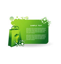 Green bag vector