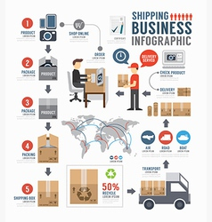 Infographic shipping world business template vector