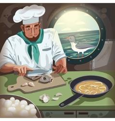 Ocean chef vector