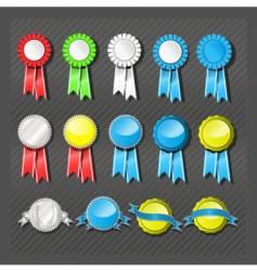 Seals and ribbons vector