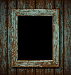 Wooden window of an old abandoned building vector