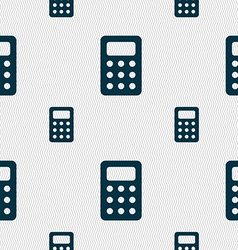 Calculator bookkeeping icon sign seamless pattern vector