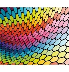 Abstract cell rainbow background vector
