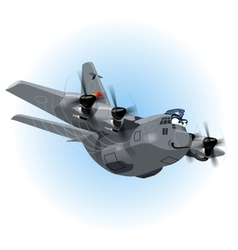 Cartoon cargo airplane vector