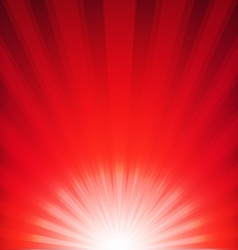 Red xmas burst poster vector