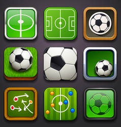 Background for the app icons-soccer part vector