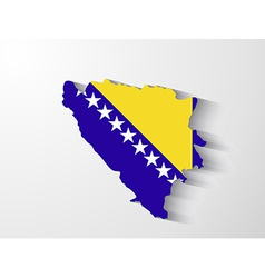 Bosnia and herzegovina map with shadow effect vector