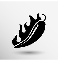 Hot chilli pepper logo isolated paprika vector