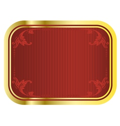 Gold beer tag vector