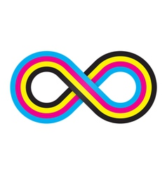 Abstract cmyk infinity vector