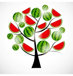 Tree from watermelon vector