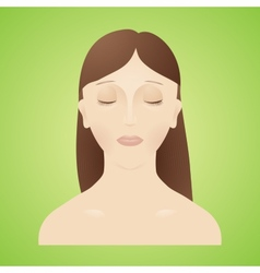 Beautiful women with her eyes closed vector