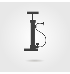Bicycle pump icon with shadow vector