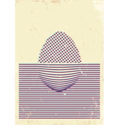 Egg poster 3d vector