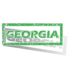 Green outlined georgia stamp vector