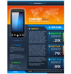 Smart phone provider brochure vector
