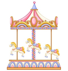A merry-go-round rotating ride vector