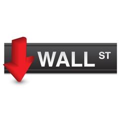 Stock market fall vector