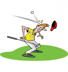Cartoon golfer vector