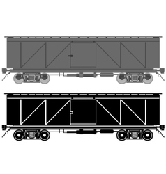 Railway wagon vector