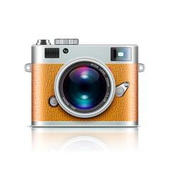 Retro style camera vector