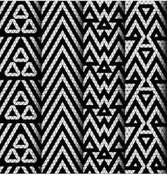 Set of four patterns vector