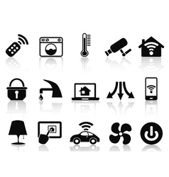 Smart house icons set vector
