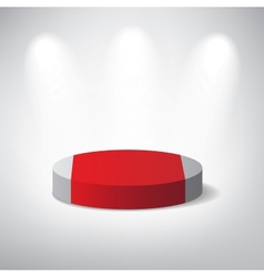 White podium on grey background vector