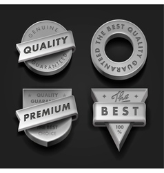 Set premium quality and guarantee labels vector