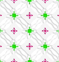 Wavy lines with pink and green seamless vector