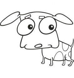 Cute doggy for coloring book vector