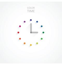 Minimalist color clock vector