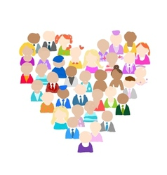 People icons heart shape for your design vector