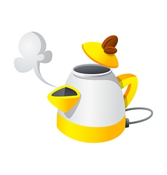 Icon electronic kettle vector
