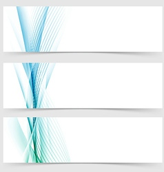 Modern transparent smooth swoosh line header set vector